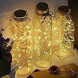 Ashley GAO Cadena de Luces de Hadas estrelladas, Luces Decorativas navideñas Cadena de Luces LED Caja de batería Cadena de Luces Decorativas de Cobre LED