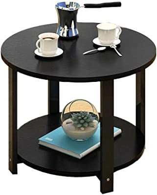 Simple Coffee Table Living Room Simple Wooden Table Small Apartment Akzenttisch for Sofa Small Square Table Color: Black