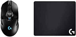 Logitech G G903 Lightspeed Ratón Gaming Inalámbrico, Captor Hero 25K, RGB, Botones Programables, Batería de 140h y G640 Al...