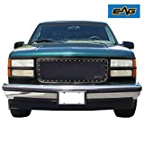 EAG Rivet Black Stainless Steel Wire Mesh Grille Fit for 94-98 C1500 / 2500/3500 / 94-98 K1500 / 2500/3500