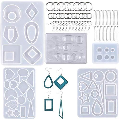 Juego de 245 moldes de resina para fundición y herramientas, moldes para colgante de joyería, plantillas de manualidades de resina para colgantes, pulseras, llaveros, artesanías hechas a mano
