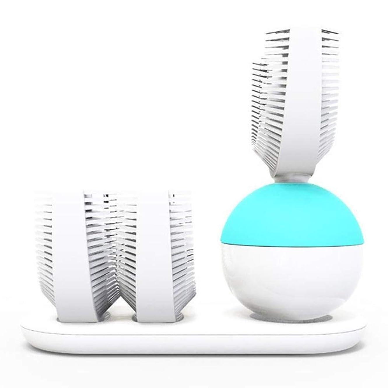 全部巻き戻す殺しますインテリジェント自動電動歯ブラシ超音波ブラッシング装置大人の怠zyなU字型ブレースリングワイヤレス歯ブラシ