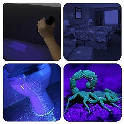 WOWTOY UV Torch Light, 100 LED UV Black Light Flashlight Pet Dog Cat Urine Stains Scorpion Bed Bug Detector Light, Super Bright Blacklight Detector for Pet Stains, Carpet, Floor 3