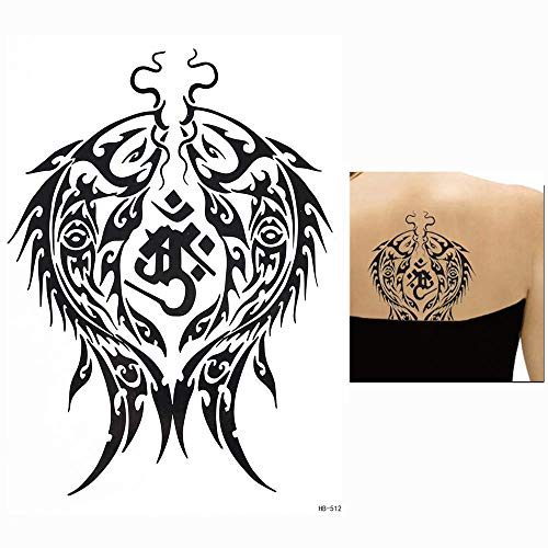LEIRUI Tattoo Wasserdicht 5 Blätter Temporary Transfer Tattoos Karpfen Ausrüstung Uhr mysteriöses Totem Temporäre Tattoos Tattoos Aufkleber männer Frauen Kinder Tattoo Klebetattoos für Körper