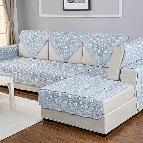 elegante Funda de sofá, Chaise Longue Protector De Muebles para Perros Mascotas Salon-Púrpura,Protector de muebles antideslizantes de tamaño multicipar (solo 1 pieza / no todo conjunto)-90 * 120 cm_A