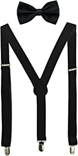 Solid Color Mens Suspender Y Shape with Strong Clips Adjustable Braces