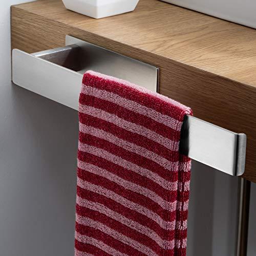 ZUNTO Handtuchhalter Ohne Bohren Handtuchstange Selbstklebend seitlich Badezimmerschrank Edelstahl Handtuchring