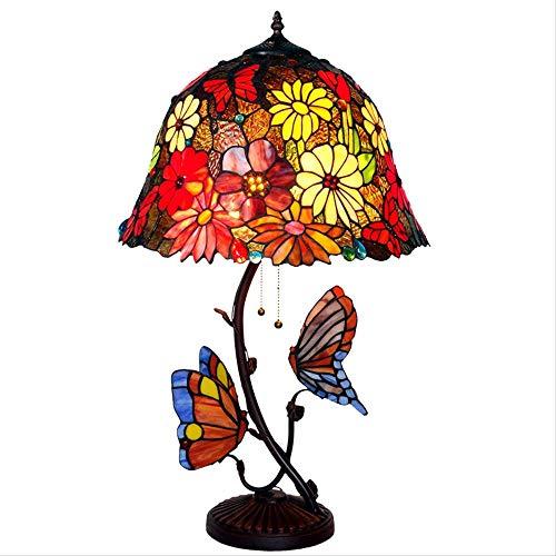 Tiffany Lampen Für Schlafzimmer, Schreibtisch Glasmalerei Große Vintage Luxus Tischlampe Für Salon Wohnzimmer Wohnzimmer Hotel Bar Counter Dekoration