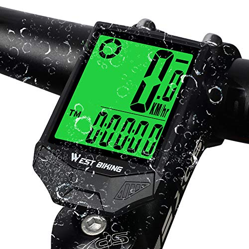 West Biking Bike Computer, Multifunctional Waterproof Bicycle Speedometer