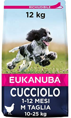 Eukanuba Cibo Secco per Cuccioli in Crescita, per Cani di Taglia Media, Ricco di Pollo Fresco, 12 kg