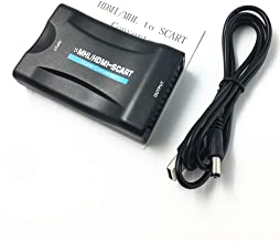 MHL HDMI To SCART 1080p Video Audio Converter for Smartphone for Sky STB DVD