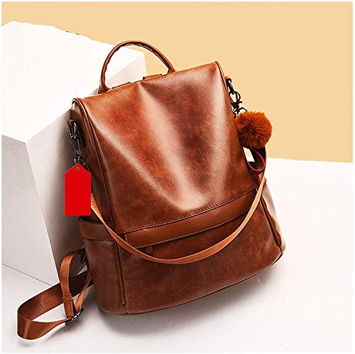 icemart® Girls Fashion Backpack Cute Mini Leather Backpack Purse for Women (Brown) PG-0033