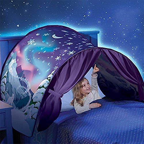 Nifogo Bettzelt Traumzelt, Magical World Traum Zelt, Kinder Schlafzimmer Dekoration Kinder Lesen (Winter Wonderland)