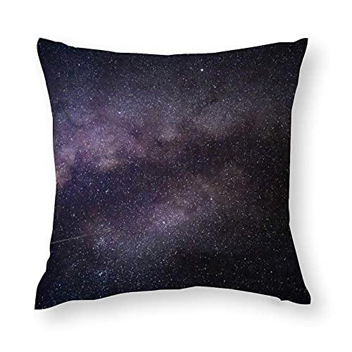 Fodera per Cuscino Federe Cartone Aurora del cielo stellato viola Modello Cuscini per Cuscino copricuscini Divano Caso Federa per Cuscino da Letto Decorazione Interna24'×24'(60x60cm)