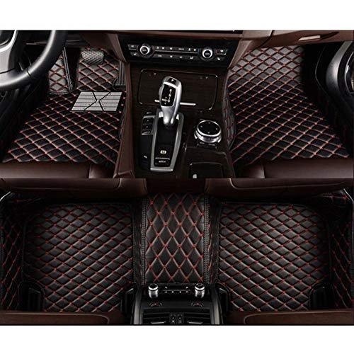 Yanjianhon Alfombras de Piso Coche tapetes Covers Mat Auto Interior Personalizado for Ford Focus 2 3 2005 2013 2006 a 2012 2014 a 2016 2017 2018 (Color : 1)
