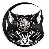 LKCAK Reloj de pared con diseño moderno, diseño de gato, decoración 3D, reloj de pared, decoración del hogar, 30,48 cm