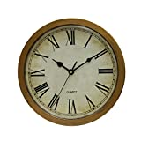 Vintage Wall Clock Safe Large Secret Jewelry Security Clocks Money Cash Jewelry Compartment Stash Box (Bronze)
