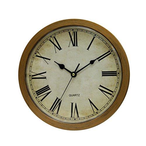 Bestomz - Reloj de pared vintage con caja fuerte y gran secreto, joyas de seguridad, color plateado
