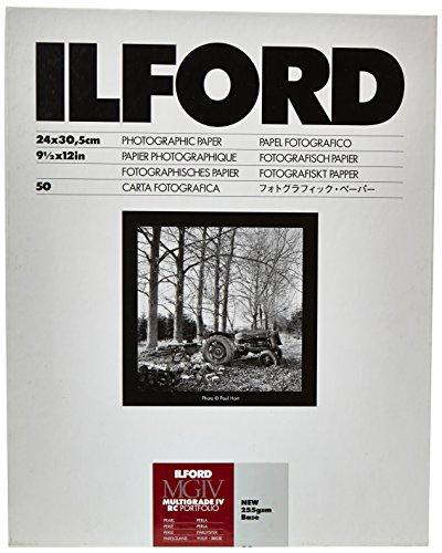 Ilford Multigrade RC IV Portfollio Pearl 24 x 30,5 cm 50 Hojas de Papel fotográfico Blanco