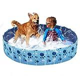 Wdmiya Piscina para Perros, Piscina Infantil para Niños, Bañera Plegable para Mascotas, Piscina al Aire Libre para Jardín y Patio (160cm X 30cm)