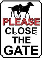 ゲートを閉じてください壁の金属のポスターレトロなプラークの警告ブリキの看板ヴィンテージ鉄の絵画の装飾バーガレージカフェのための面白いハンギングクラフト