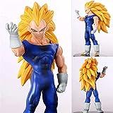 CXNY Figuras de acción Dragon Ball Z Vegeta Super Saiyan 3 Gold Hair Blood Enchanted Trunks Colecció...