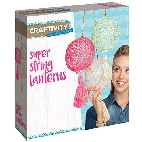 CRAFTIVITY Super String Lanterns Kit - Makes 3 String Art...