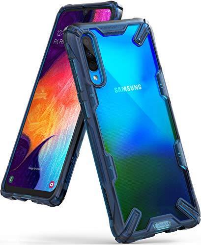 Ringke Fusion-X Compatibile con Cover Galaxy A50s Trasparente, Custodia Galaxy A50 / A30s con Paraurti Protettiva Antiurto TPU, Cover per Galaxy A50s / A50 / A30s (6.4 Pollice) - Space Blue