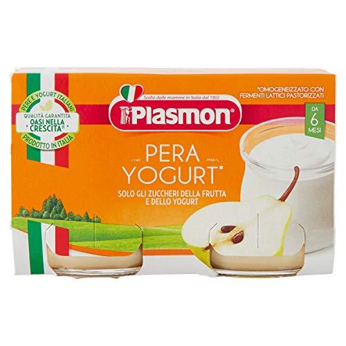 Plasmon Omogeneizzato Pera e Yogurt, 2 x 120g