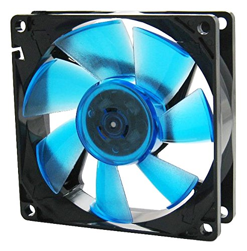 Gelid Solutions WING 8 UV Blue PC-behuizing, ventilator, ventilator en radiator (PC-behuizing, ventilator, 8 cm, 2000 omw/min, 10 dB, 21 dB)