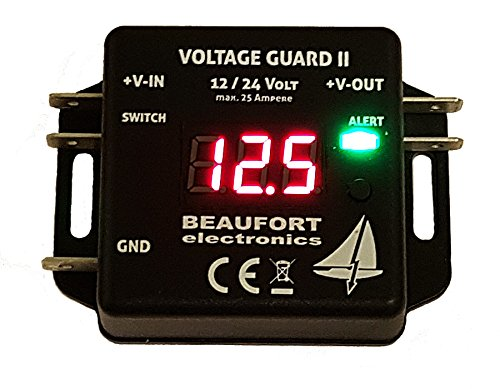 BEAUFORT electronics V-Guard II - Programmierbarer Batteriewächter 12V & 24V mit Display