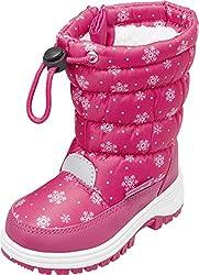 Playshoes Snow Boots Snowflakes Unisex-Kinder Schneestiefel, Pink (Pink 18), 22/23 EU