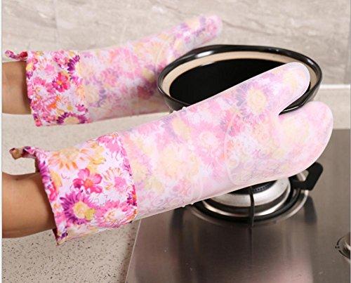 Dbtxwd Rallongée de four à micro-ondes four silicagel isolation gants épaississement Plus coton cuisine gants , 1