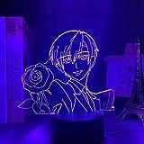 Lampe anime à LED Ouran High School Host Club Tamaki Suoh Figurine pour décoration de chambre d'enfant Cadeau d'anniversaire Manga 3D Télécommande (16 couleurs)