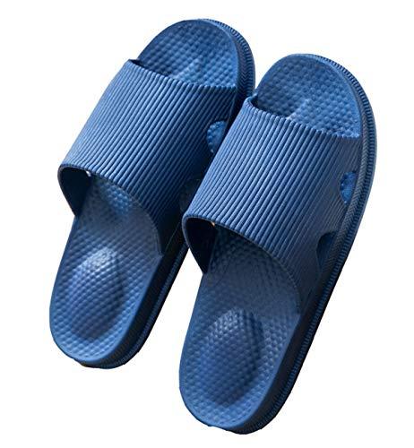 ANDME Zapatillas para mujer de primavera y verano, sandalias y zapatillas antideslizantes de color sólido para el ocio en el hogar (39/40, Navy blue, numeric_39)