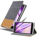 Cadorabo Hülle für Motorola Moto G5 Plus in HELL GRAU BRAUN - Handyhülle mit Magnetverschluss, Standfunktion & Kartenfach - Hülle Cover Schutzhülle Etui Tasche Book Klapp Style