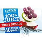 Capri Sun 100% Fruit Punch Juice Ready-to-Drink Juice (40 Pouches, 4 Boxes of 10)
