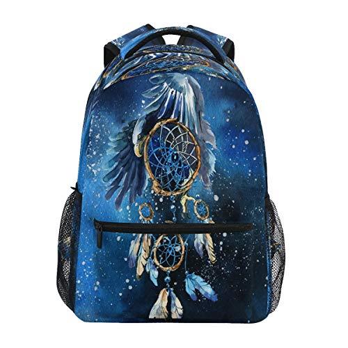 XIXIKO Dream Catcher - Mochila de viaje con plumas para escuela, para viajes, al aire libre, para mujer, hombre, niña, deporte, gimnasio, senderismo, camping, mochila
