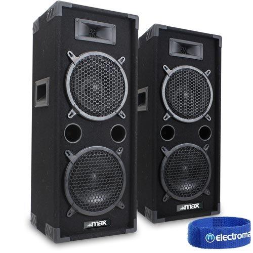 35af763a9 Max 2x 2 x 8 Speakers Bedroom DJ Disco PA Party 1600W Set Mega Bass Kit