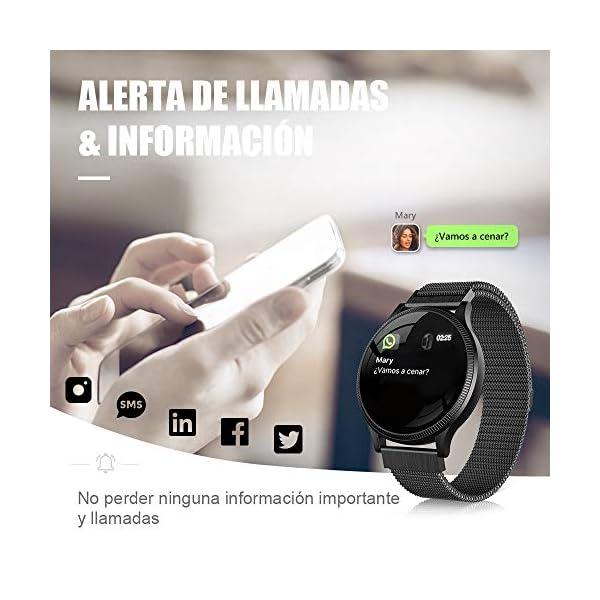 BANLVS Reloj Inteligente, Smartwatch IP67 1.22 Pulgadas Pulsómetro, Monitor de Sueño, Presión Arterial,Pulsera Actividad… 7