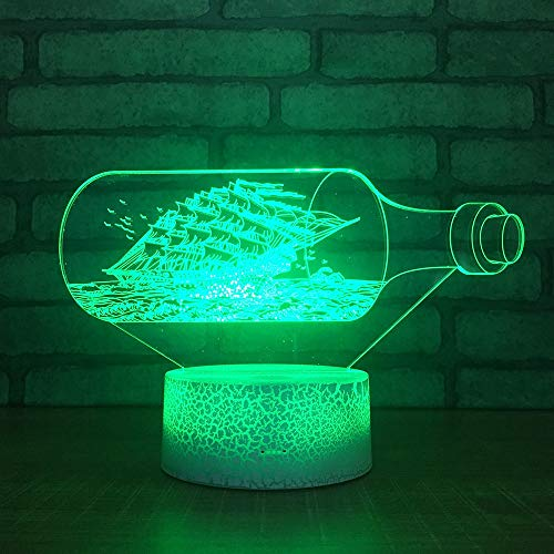 Only 1 Piece 3D Colorful Table Lamps for Living Room Bedroom Atmosphere Bedside 3D Desk Lamp Christmas Decorations Led Small Night Lights
