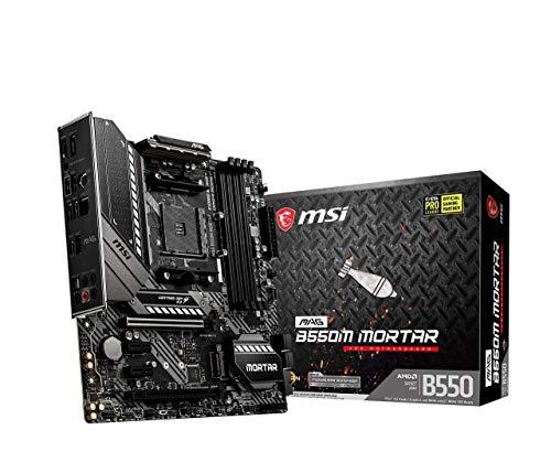 MSI MAG B550M MORTAR (AMD AM4 DDR4 M.2 USB 3.2 Gen 2 HDMI M-ATX Gaming Motherboard AMD Ryzen 5000 Prozessoren)