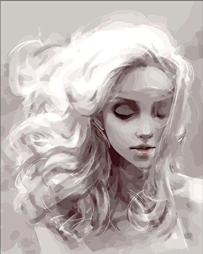 YEESAM ART DIY Peinture Numéro Adulte Enfant - Peinture numérique Femme Animaux Fleur Paysage Lion 40x50 cm Peinture par Numero, Paint by Numbers Cadeaux de noël (Rêver, avec Cadre)