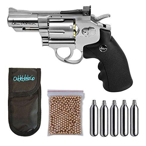 Outletdelocio. Revolver perdigon ASG17177 Dan Wesson 2,5 Pulgadas + Funda Portabombonas + Balines + Bombonas co2. 23054 29318 38123