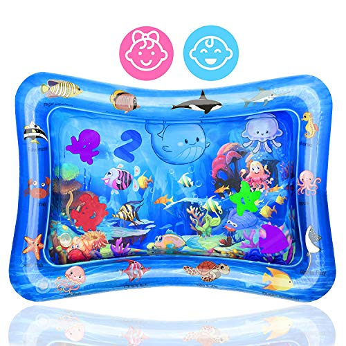 Wendergo Tummy Time Water Mat Inflatable Play Mat Perfect Sensory Toys for Baby Early Development Activity Centers Infants & Toddlers 3 6 9 Months Newborn Girls Boys
