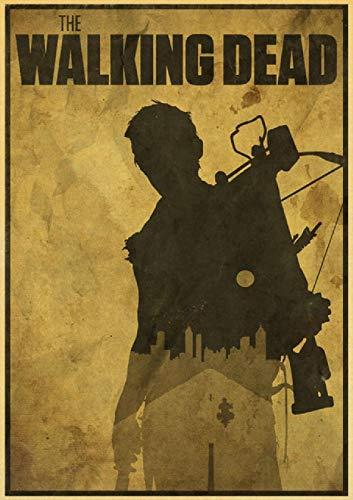 Rompecabezas de 1000 piezas para adultos y niños pegatinas Kraft película Walking Dead Meat Home T19 29.5 x 19.6 pulgadas (75 x 50 cm) rompecabezas de descompresión intelectual sin marco