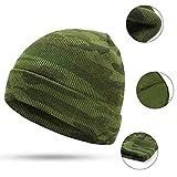 Cappello in maglia mimetica verde, cappello in maglia da uomo e donna, cappello da sci verde giungla, osso di cappello uniforme militare caldo all'aperto