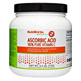 NutriBiotic Ascorbic Acid Vitamin C Powder, 2.2 Lb | Pharmaceutical Grade L-Ascorbic Acid, 2000 Mg Per Serving | Essential Immune & Antioxidant Collagen Support Supplement | Vegan, Gluten & GMO Free