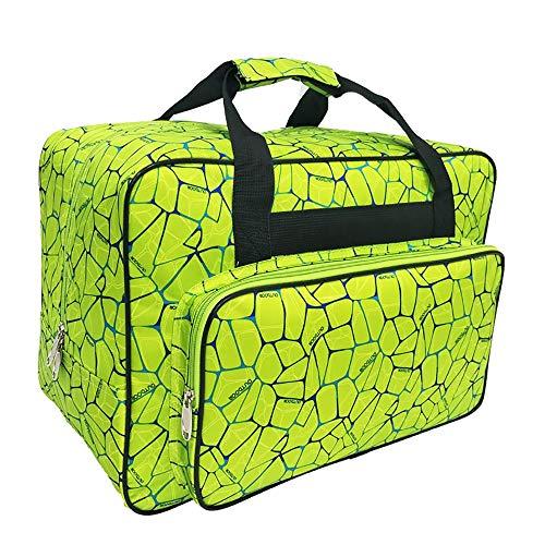 Wasserdichte Nylon-Nähmaschinentasche, Aufbewahrungstasche für Reisen, tragbare Nähmaschinen-Handtaschen mit Taschen und Griff für die meisten Standard-Nähmaschinen und Nähzubehör, grün, Large