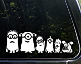 Minion Family Extended with Dog - 11-1/2' x 4' - Vinyl Die Cut Decal/Bumper Sticker for Windows, Cars, Trucks, Etc.